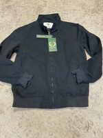 Wenven Men's Black Bomber Jacket Canvas Size Small S