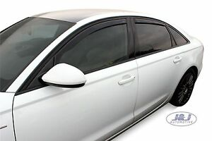 DAU10245 AUDI A6 C7 4 DOOR SALOON 2011-2018 wind deflectors 4pcs  set TINTED
