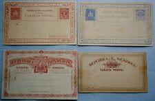 (4) 19th Century South American Postal Cards, unused