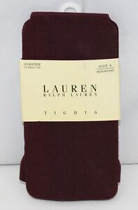 Ralph Lauren Tights Microfiber Control Top Wine Burgundy Size A