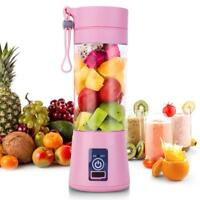 2 Blades Mini USB Portable Electric Fruit Juicer Smoothie Maker Blender Machine