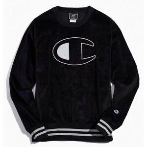 Champion LIFE Men's Corduroy Crew Black Sweatshirt
