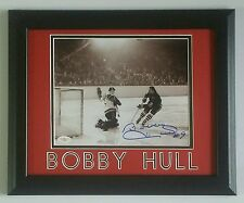 Bobby Hull Signed Autographed 8x10 Chicago Blackhawks Framed 11x14 JSA