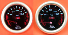 52mm Smoked Oil Pressure & Temp Gauge MX5 Clio 182 Civic BMW