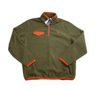 Polo Ralph Lauren 1/4 Zip Polar Fleece Sweatshirt Sweater Green NWT Men's XL