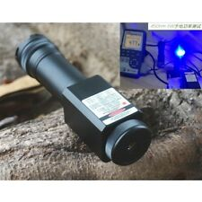 Waterproof 450nm 5000 Laser Pointer Focusable Dot Visible Beam Blue Power Torch