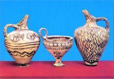 Postcard Greek Vases from Phaistos 16thC BC  Heraklion Museum Crete MINT