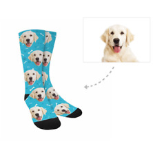 Custom Socks with Dog Face Paw Personalized Photo on Leg Warmers Gift Unisex