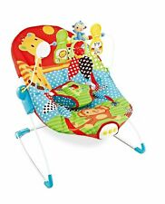 Baby Rocker Sunrise Safari Animale Bouncer Sedia Con Vibrazioni & musica rilassante