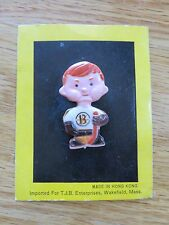 """Vintage 70s PLAYER BOSTON BRUINS 2"""" Button / Pin on Card BOBBY ORR"""