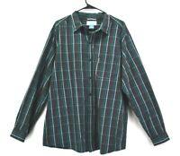 Columbia Sportswear Mens Size XLarge Casual Button Down Long Sleeve Shirt Plaid