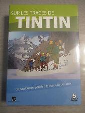 coffret 5 dvd sur les traces de TINTIN 5 albums