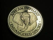 world endangered species - African elephant coin