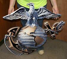 "USMC OFFICER GLOBE AND ANCHOR SUPERSIZED STEEL SIGN 36""X36"" (EGA) - PhotoSTEEL"