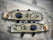 Fit For 90-93 Honda Accord Projector Headlights Chrome 91 92