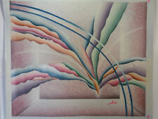 wall Art canvas color Hand oil paint Modern Abstract Picture Duotone 24x20 new