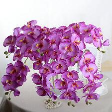 8×Artificial Fake Butterfly Orchid Silk Flowers Hydrangea Wedding Garden Decor