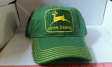 JOHN DEERE throwback green yellow distressed Trucker Hat Cap BRAND NEW LICENSED