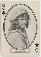 Vivian Martin 1916 MJ Moriarty Silent Film Star Playing Card