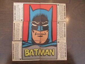 1966 Topps *BATMAN - Blue Bat PUZZLE Back* COMPLETE SET (44 Cards)