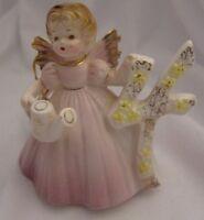 Vintage Josef Originals 4th Birthday Angel Girl 4 Pink Dress Made in Japan