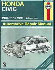 Honda Civic 1984 thru 1991 All Models Haynes Automotive Repair Manual 92
