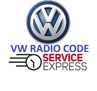 Volkswagen Radio Stereo Code Unlock Fast Service  *OFFICIAL* VW
