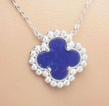 Collane e pendagli di lusso con gemme blu argento sterling