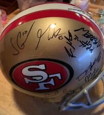 San Francisco 49ers Niners Team Signed Helmet