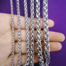 20-30inch Fashion Unisex 316L Stainless Steel Round Box Chain Necklace Hot Gift