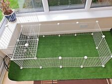 C&C , C AND C  GUINEA PIG RUN / CAGE, WITH 2 x 1 LOFT .  ALL SIZES .   WHITE .