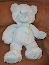 "Bear My First Teddy Russ Baby 16"" Pastel Blue Soft Stuffed Plush 25914 Lovey Toy"