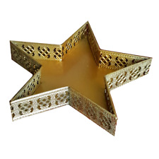 Metall -Tablett Schale Obstschale Deko-Schale Sternfömig Weihnachtlich Stern