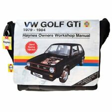 Haynes Manual Volkswagen VW Golf GTi Messenger Bag - Retro Cool! -  NEW