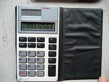 "Used TI 1766 II Ultra Slim solar calculator w/case, 4.5"" x 2.5"", w/warranty"