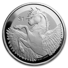 2018 ~ 2 ~OZ ~ PURE .999 SILVER ~ PEGASUS ~ REVERSE FROSTED PROOF COIN ~ $9.99