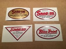 Snap-on tools Blue-Point Decals restore tool boxes vintage rat rod classic old