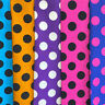 "Polka Dot Extra Large(4cm) Printed Fabric Color Back 100% Cotton 58/60"" Wide BTY"