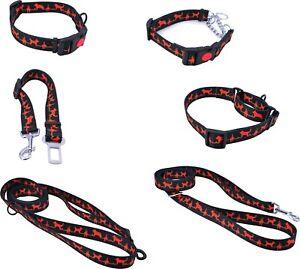 Erziehungshalsband Sicherheitsgurt Würgehalsband Hundehalsband Cardio Black Red
