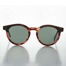 Round Tortoiseshell Horn Rim Classic Pantos Vintage Sunglass- Brad