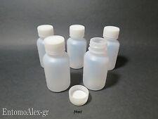 bottiglie flaconi plastica 30ml x5 graduati contenitori tappo vite x campioni