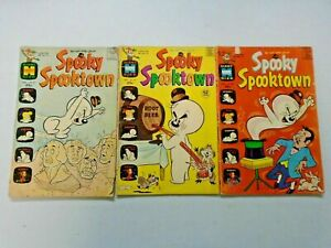Harvey Spooky Ghost Giant Size Comic Lot 3 Different 4.0 VG