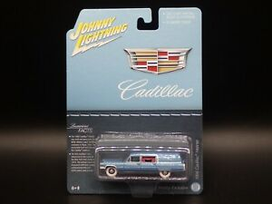 2021 JL 1966 CADILLAC HEARSE BLUE HOBBY EXCLUSIVE WHITE LIGHTNING CHASE RARE