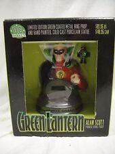 DC DIRECT GREEN LANTERN: ALAN SCOTT PROP RING Replica Set MIB! Statue Bust JLA