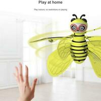 Yellow Flying Mini Bee Hand Infrared Induction Control w/ LED Light Xmas Gift
