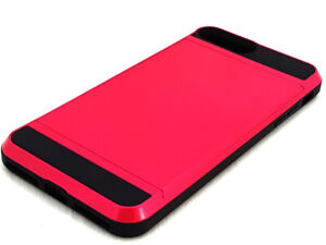 Iphone 7/8 plus Shockproof Hybrid Hard Back Case with card slot Pink