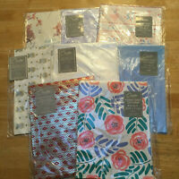 Vintage VARIETY Lot Of Folded Gift Wrap Wrapping Paper 8 Packages Sheets Carlton