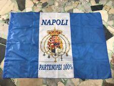 1 bandiera NAPOLI 140x100cm FLAG STEMMA BORBONICO PARTENOPEI AZZURRI NAPULE