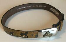 NOCONA Genuine Bonded Leather Little Buckaroo Colored Belt W/Horse Buckle 24-28