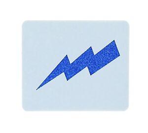 Lightning Bolt Crafting Face Painting Stencil 6cm x 7cm Reusable - UK Shop